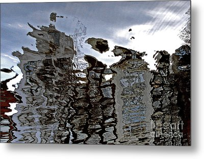 Metal Print featuring the photograph Amsterdam Reflections 2 by Andy Prendy