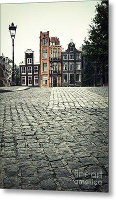 Amsterdam Street Metal Print by Jane Rix