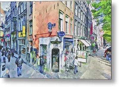 Amsterdam Streets 3 Metal Print by Yury Malkov