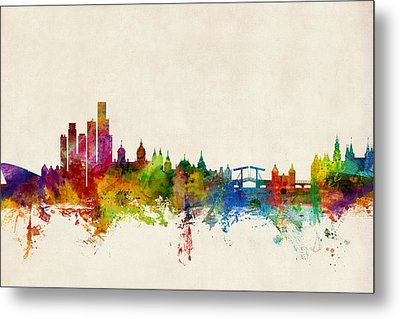 Amsterdam The Netherlands Skyline Metal Print by Michael Tompsett