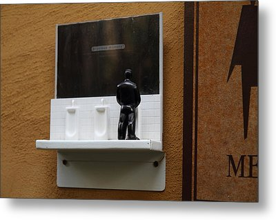 Amusing Sign - Piazza Palio - Khaoyai Thailand - 01132 Metal Print by DC Photographer