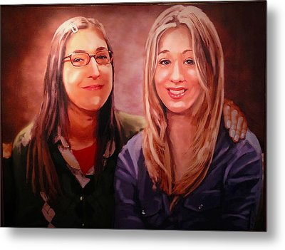 Amy And Penny Metal Print