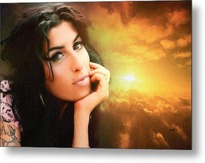 Amy Winehouse Metal Print by Anthony Caruso