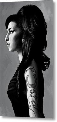 Amy Winehouse Artwork  2 Metal Print