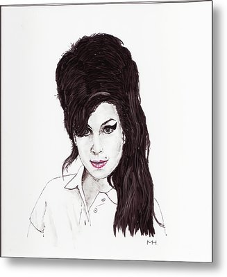 Amy Winehouse Metal Print by Martin Howard