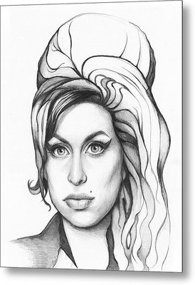 Amy Winehouse Metal Print by Olga Shvartsur