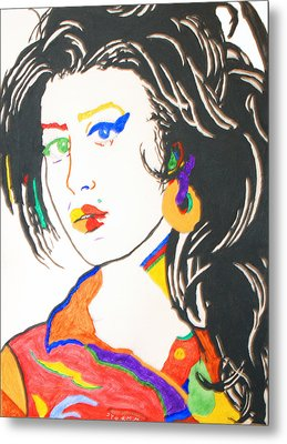 Amy Winehouse Metal Print