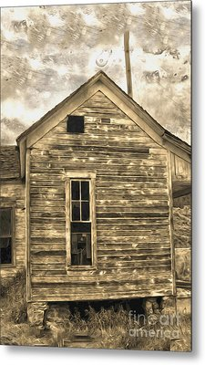An Abandoned Old Shack Metal Print by Gregory Dyer