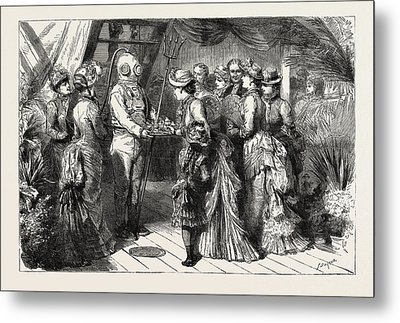 An Afternoon Party On Board H.m.s Metal Print