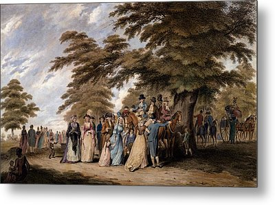 An Airing In Hyde Park, 1796 Metal Print