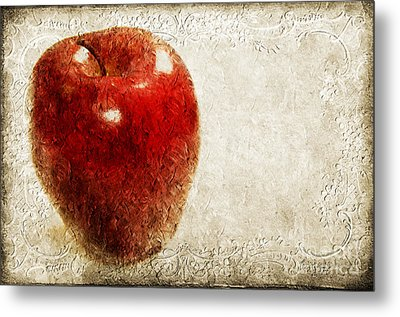 An Apple A Day Metal Print by Andee Design