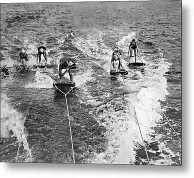 An Aquaplane Teacher Metal Print