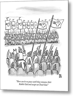 An Army Lines Up For Battle Metal Print