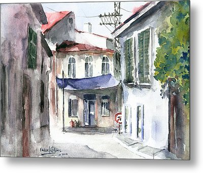 An Authentic Street In Urla - Izmir Metal Print by Faruk Koksal
