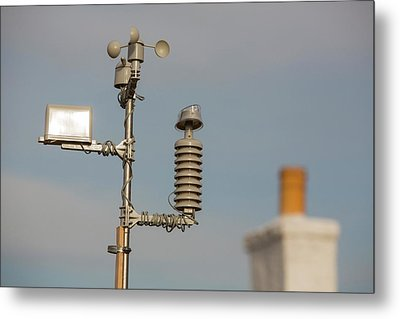An Automated Weather Station Metal Print by Ashley Cooper