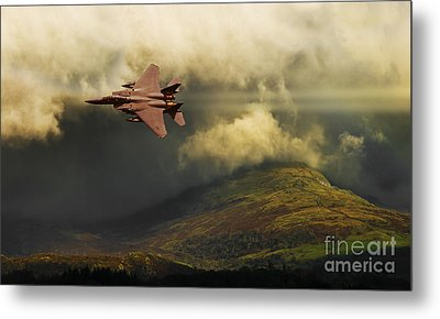 Metal Print featuring the photograph An Eagle Over Cumbria by Meirion Matthias