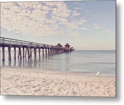 An Early Morning - Naples Pier Metal Print by Kim Hojnacki