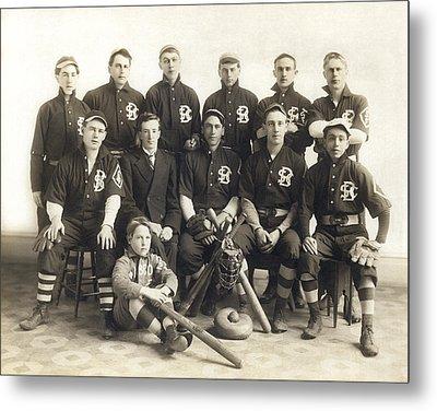 An Early Sf Baseball Team Metal Print
