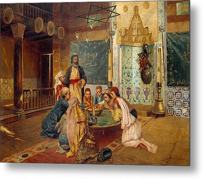 An Eastern Meal Metal Print by Rudolphe Ernst