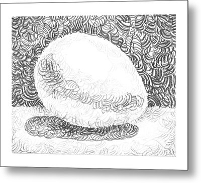 An Egg Study Three Metal Print by Irina Sztukowski