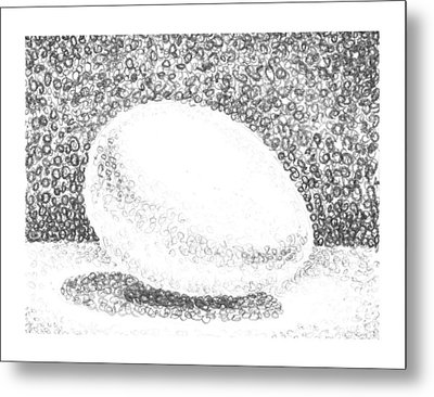 An Egg Study Two Metal Print by Irina Sztukowski