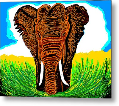 An Elephant-3 Metal Print by Anand Swaroop Manchiraju