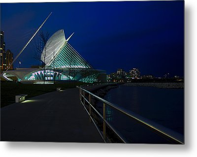 An Evening Stroll At The Calatrava Metal Print