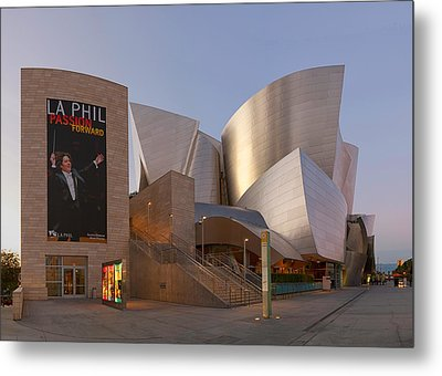 Metal Print featuring the photograph An Evening With Gustavo - Walt Disney Concert Hall Architecture Los Angeles by Ram Vasudev