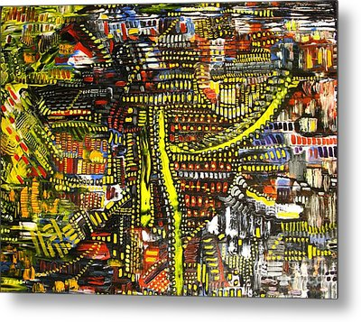 An Exercise In Yellow Metal Print by Michael Kulick