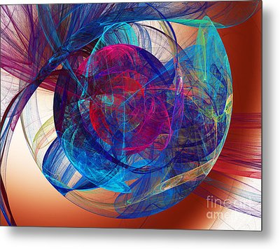 An Eye To The Soul Metal Print by Andee Design