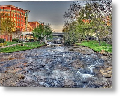An Hdr Image Of The Reedy River In Downtown Greenville Sc  Metal Print