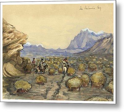 An Icelandic Bog Circa 1862 Metal Print by Aged Pixel