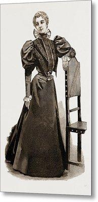 An Indoor Dress, 1897 Metal Print by Litz Collection