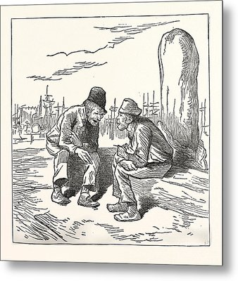 An Intelligent Voter, Engraving 1880, Us, Usa, Election Metal Print by American School