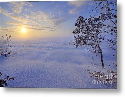 An Ocean Of Snow Metal Print by Dan Jurak