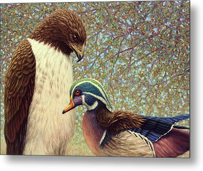 An Odd Couple Metal Print by James W Johnson
