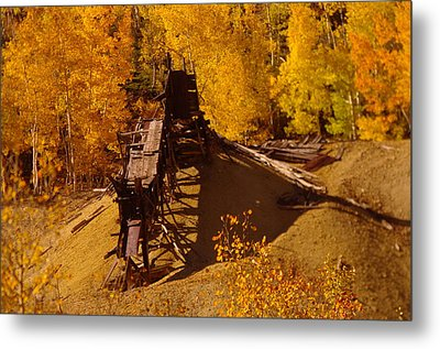 An Old Colorado Mine In Autumn Metal Print by Jeff Swan