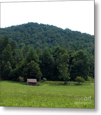 An Old Country Shack Metal Print by Eva Thomas