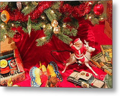 An Old Fashioned Christmas - Santa Claus Metal Print