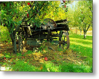 An Old Harvest Wagon Metal Print by Jeff Swan