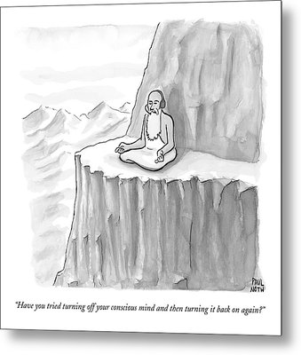 An Old Man Gives Metaphysical Advice Metal Print