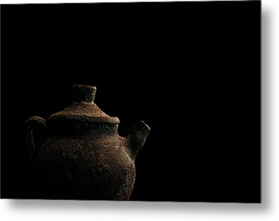 Metal Print featuring the photograph An Old Pot by Marwan Khoury