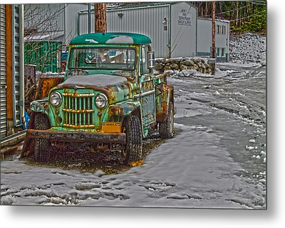 Metal Print featuring the photograph An Old Truck by Timothy Latta
