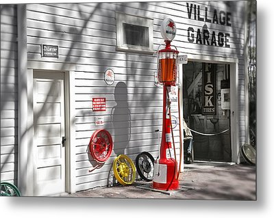 An Old Village Gas Station Metal Print by Mal Bray