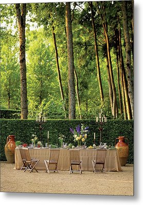 An Outdoor Dining Area Metal Print by Alexandre Bailhache