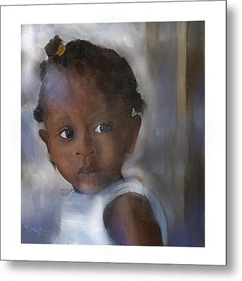 Metal Print featuring the painting Ana  by Bob Salo