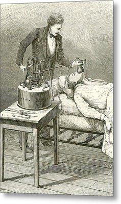 Anaesthetist Administering Chloroform Metal Print