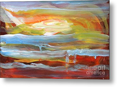 Anarchist Sunset  Metal Print by Anne Cameron Cutri
