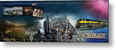 Anchorage Alaska Panoramic Metal Print by Retro Images Archive