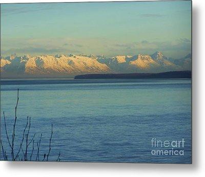 Anchorage Mountains Metal Print
